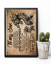 Dad To Son - Dragon - Never Feel That You Are 16x24 Poster lifestyle-poster-8