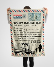 """To My Daughter - Trucker - I Love You  Small Fleece Blanket - 30"""" x 40"""" aos-coral-fleece-blanket-30x40-lifestyle-front-14"""