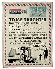 """To My Daughter - Trucker - I Love You  Small Fleece Blanket - 30"""" x 40"""" front"""