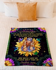 "Grandma to Granddaughter - You Are My Sunshine Small Fleece Blanket - 30"" x 40"" aos-coral-fleece-blanket-30x40-lifestyle-front-04"
