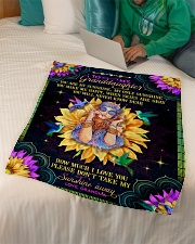 "Grandma to Granddaughter - You Are My Sunshine Small Fleece Blanket - 30"" x 40"" aos-coral-fleece-blanket-30x40-lifestyle-front-07"