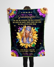 "Grandma to Granddaughter - You Are My Sunshine Small Fleece Blanket - 30"" x 40"" aos-coral-fleece-blanket-30x40-lifestyle-front-14"