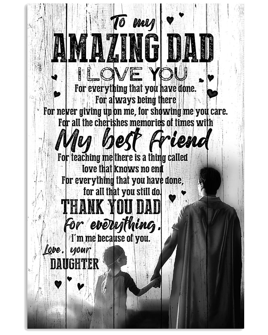 POSTER - TO DAD - SUPER HERO - I LOVE YOU 16x24 Poster