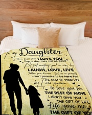 "To My Daughter - Everyday MAy Not Be Good Large Fleece Blanket - 60"" x 80"" aos-coral-fleece-blanket-60x80-lifestyle-front-02"