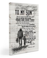 Dad to Son - Never Forget That I Love You  20x30 Gallery Wrapped Canvas Prints front