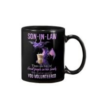 T-SHIRT - SON-IN-LAW - DRAGON - YOU VOLUNTEERED Mug thumbnail