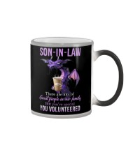T-SHIRT - SON-IN-LAW - DRAGON - YOU VOLUNTEERED Color Changing Mug thumbnail