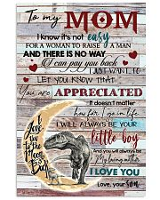TO MY MOM - DINOSAUR - YOU ARE APPRECIATED 16x24 Poster front