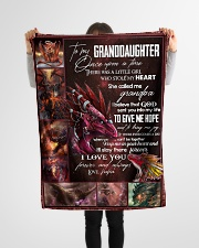"""TO MY GRANDDAUGHTER - I LOVE YOU Small Fleece Blanket - 30"""" x 40"""" aos-coral-fleece-blanket-30x40-lifestyle-front-14"""