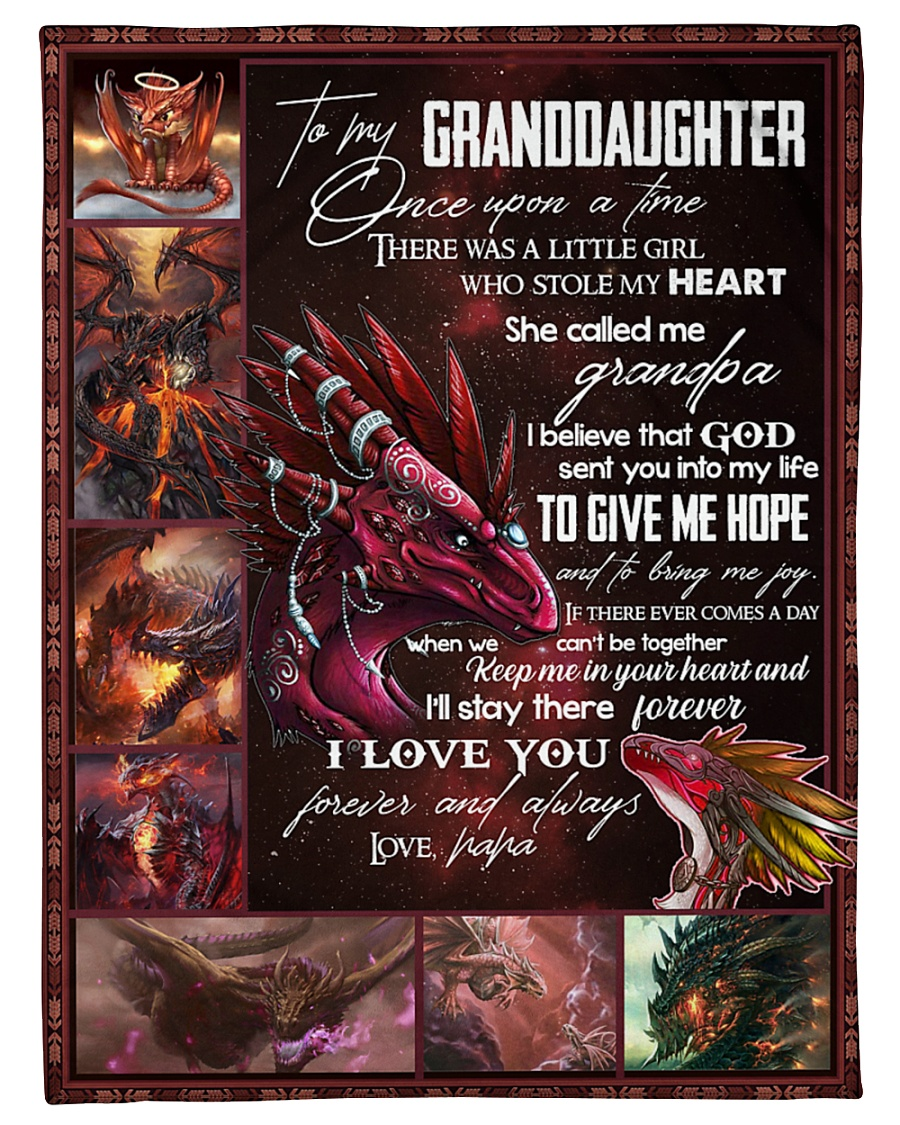 """TO MY GRANDDAUGHTER - I LOVE YOU Small Fleece Blanket - 30"""" x 40"""""""