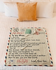 """Gifts for Mom - Fleece Blanket Small Fleece Blanket - 30"""" x 40"""" aos-coral-fleece-blanket-30x40-lifestyle-front-04"""