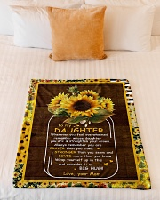 """To My Daughter - Sunflower - Whenever You Feel  Small Fleece Blanket - 30"""" x 40"""" aos-coral-fleece-blanket-30x40-lifestyle-front-04"""