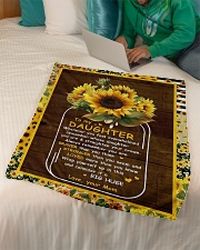 """To My Daughter - Sunflower - Whenever You Feel  Small Fleece Blanket - 30"""" x 40"""" aos-coral-fleece-blanket-30x40-lifestyle-front-07"""