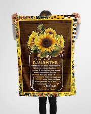 """To My Daughter - Sunflower - Whenever You Feel  Small Fleece Blanket - 30"""" x 40"""" aos-coral-fleece-blanket-30x40-lifestyle-front-14"""