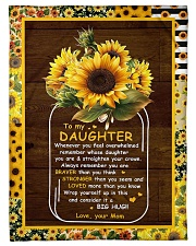 """To My Daughter - Sunflower - Whenever You Feel  Small Fleece Blanket - 30"""" x 40"""" front"""