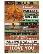 TO MY MOM - TREE - YOU ARE APPRECIATED 16x24 Poster front
