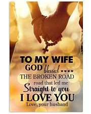 POSTER - TO MY WIFE - GOD - I LOVE YOU 16x24 Poster front