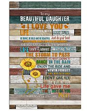 To My Daughter - Keep Your face To The Sunshine  Vertical Poster tile