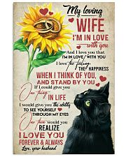 TO MY WIFE - SUNSLOWER - I'M IN LOVE WITH YOU 16x24 Poster front