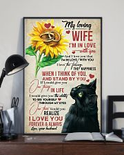 TO MY WIFE - SUNSLOWER - I'M IN LOVE WITH YOU 16x24 Poster lifestyle-poster-2