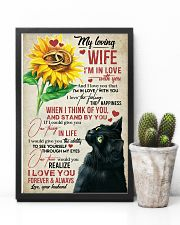 TO MY WIFE - SUNSLOWER - I'M IN LOVE WITH YOU 16x24 Poster lifestyle-poster-8