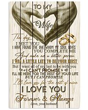 TO MY WIFE - LOVE HEART - I LOVE YOU 16x24 Poster front