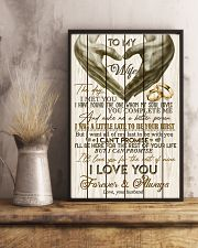 TO MY WIFE - LOVE HEART - I LOVE YOU 16x24 Poster lifestyle-poster-3