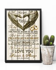 TO MY WIFE - LOVE HEART - I LOVE YOU 16x24 Poster lifestyle-poster-8