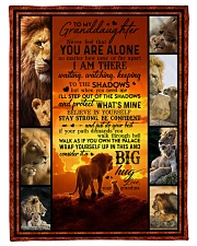 """To Granddaughter - Never Feel That You Are Alone  Small Fleece Blanket - 30"""" x 40"""" front"""