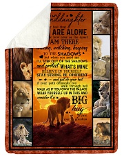 """To Granddaughter - Never Feel That You Are Alone  Large Sherpa Fleece Blanket - 60"""" x 80"""" thumbnail"""