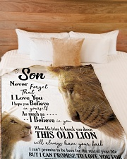 "DAD TO SON Large Fleece Blanket - 60"" x 80"" aos-coral-fleece-blanket-60x80-lifestyle-front-02"