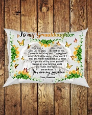 Grandma to Granddaughter - You Are The Beat Of My Rectangular Pillowcase aos-pillow-rectangle-front-lifestyle-2