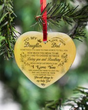 Christmas - To My Daughter - Sometimes It's Hard  Heart ornament - single (porcelain) aos-heart-ornament-single-porcelain-lifestyles-07