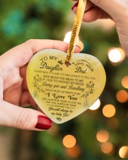 Christmas - To My Daughter - Sometimes It's Hard  Heart ornament - single (porcelain) aos-heart-ornament-single-porcelain-lifestyles-08