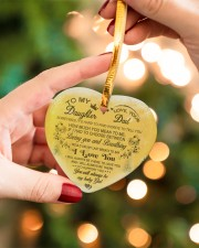 Christmas - To My Daughter - Sometimes It's Hard  Heart ornament - single (porcelain) aos-heart-ornament-single-porcelain-lifestyles-09