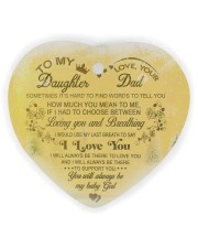 Christmas - To My Daughter - Sometimes It's Hard  Heart ornament - single (wood) thumbnail