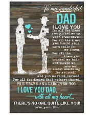 POSTER - TO MY DAD - PIECE - I LOVE YOU 16x24 Poster front