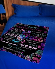 """To My Mother-in-law - Fleece Blanket Small Fleece Blanket - 30"""" x 40"""" aos-coral-fleece-blanket-30x40-lifestyle-front-02"""