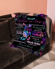 """To My Mother-in-law - Fleece Blanket Small Fleece Blanket - 30"""" x 40"""" aos-coral-fleece-blanket-30x40-lifestyle-front-05"""