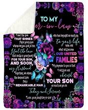 To My Mother-in-law - Fleece Blanket Sherpa Fleece Blanket tile