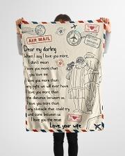 """Gifts for Husband - Fleece Blanket Small Fleece Blanket - 30"""" x 40"""" aos-coral-fleece-blanket-30x40-lifestyle-front-14"""