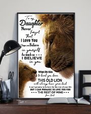 TO MY DAUGHTER - LION - KNOCK YOU 16x24 Poster lifestyle-poster-2