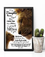 TO MY DAUGHTER - LION - KNOCK YOU 16x24 Poster lifestyle-poster-8