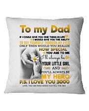 DAUGHTER TO DAD Square Pillowcase thumbnail