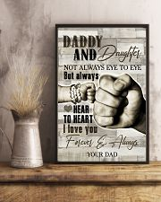 To My Daughter - Daddy And Daughter - Poster 16x24 Poster lifestyle-poster-3