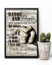To My Daughter - Daddy And Daughter - Poster 16x24 Poster lifestyle-poster-8
