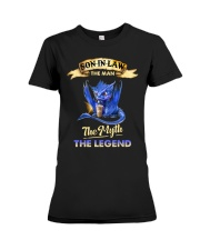 SON-IN-LAW - DRAGON COFFEE - THE MAN THE MYTH Premium Fit Ladies Tee thumbnail