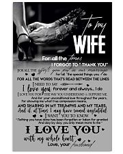 TO MY WIFE - LOVING YOU - I LOVE YOU 16x24 Poster front