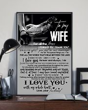 TO MY WIFE - LOVING YOU - I LOVE YOU 16x24 Poster lifestyle-poster-2