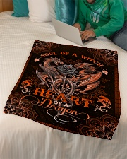 """Dragon - Mandala - Soul Of A Witch Small Fleece Blanket - 30"""" x 40"""" aos-coral-fleece-blanket-30x40-lifestyle-front-07"""